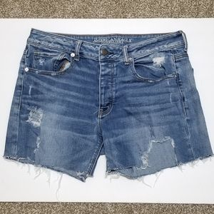 American Eagle Tomgirl Distressed Button Shorts